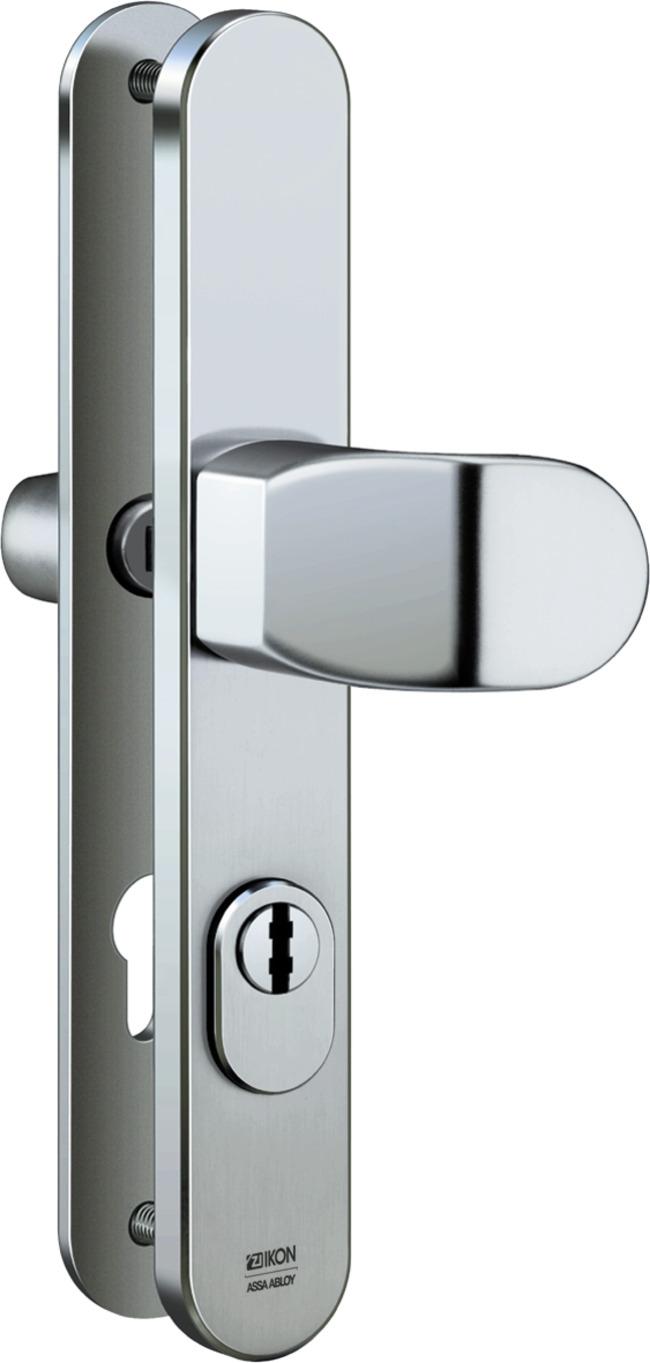 Stahl-Schutzbeschlag mit Zylinderabdeckung - Winkelknauf/Drücker ...