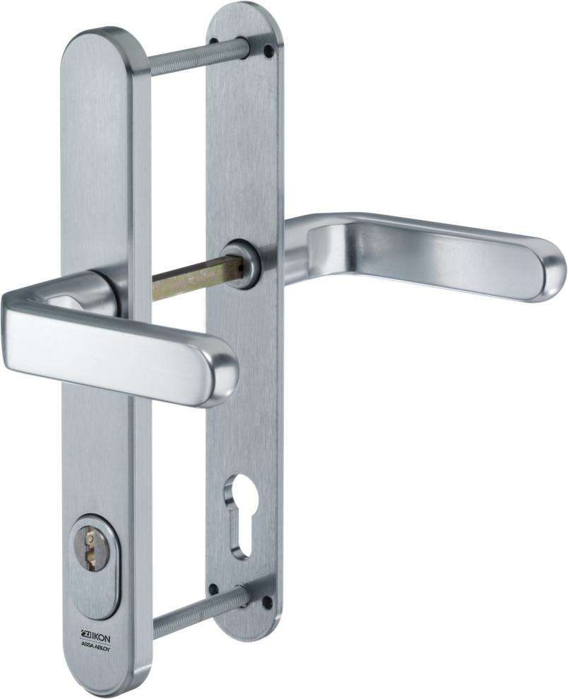 Stahl-Schutzbeschlag mit Zylinderabdeckung - Drücker/Drücker ...